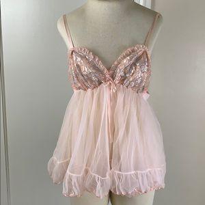 Pandora vintage babydoll lingerie slip pink
